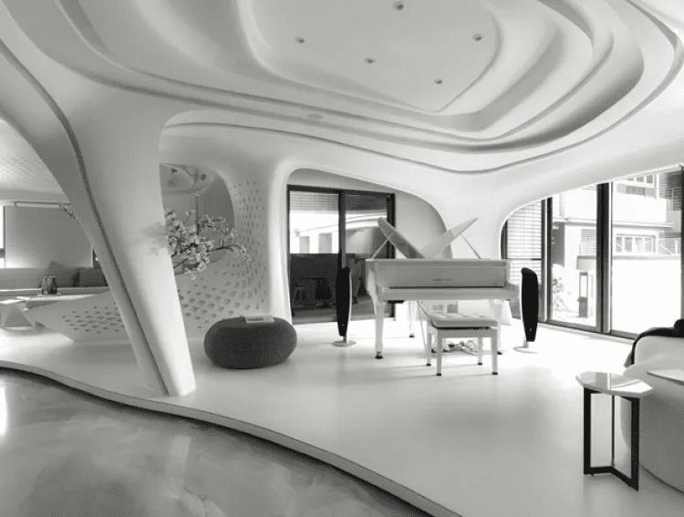 Estilo de decoração: futurista.