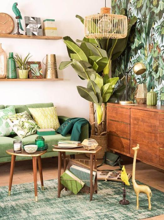 Estilos de decoração: tropical.