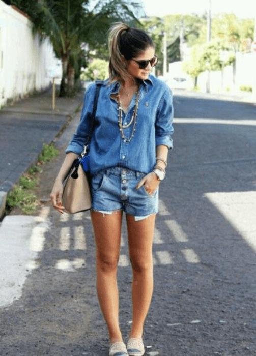 Como usar camisa jeans.