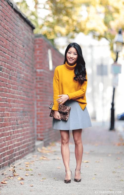 Amarelo com cinza na moda.