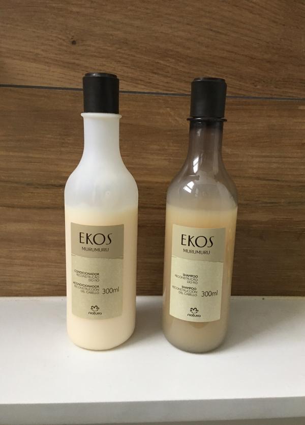 Shampoo e condicionador Ekos Murumuru.
