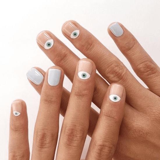 Desenhos criativos para manicure.