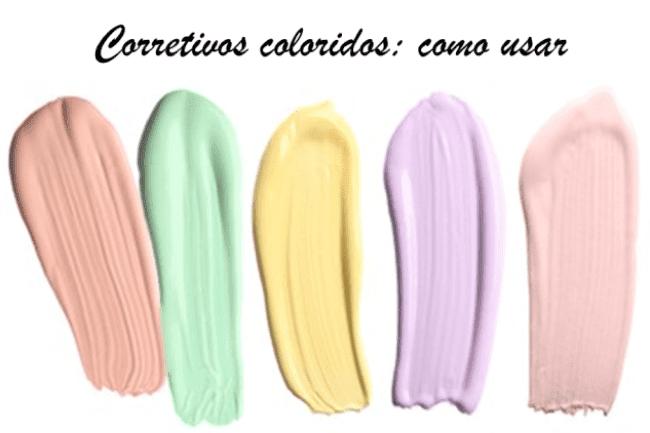 Como usar corretivo colorido.