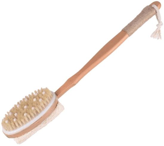 Escova para escovação corporal a seco.