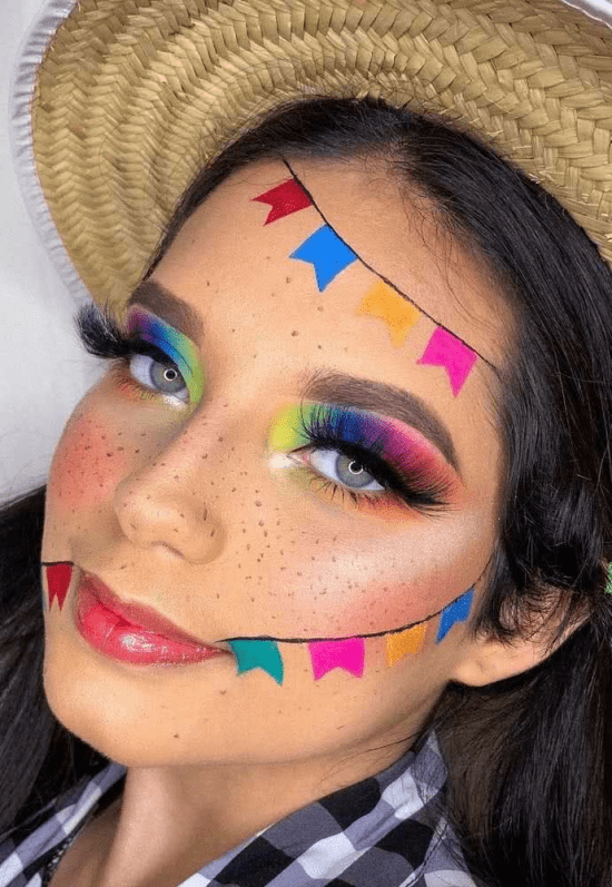 Maquiagem de festa junina.